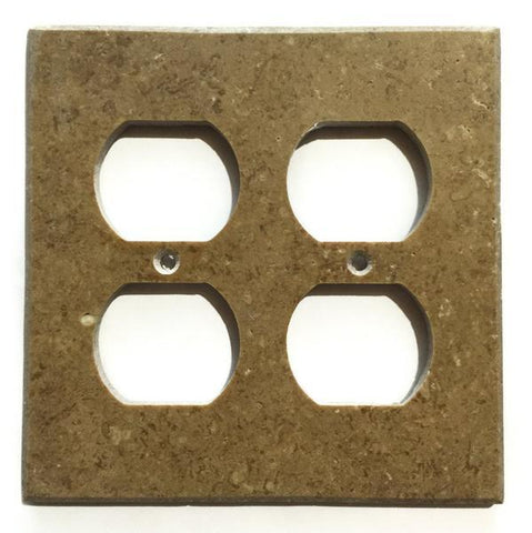 Noce Travertine Double Duplex Switch Wall Plate/ Outlet Cover Tilezz