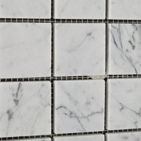 Carrara White Marble 2x2 Mosaic Polished/Honed Stone Tilezz