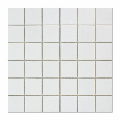Thassos White 2x2 Marble Mosaic Polished/Honed Stone Tilezz