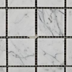 Carrara White Marble 2x2 Mosaic Polished/Honed