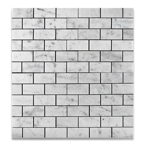 Carrara White Marble 2x4 Mosaic Polished/Honed