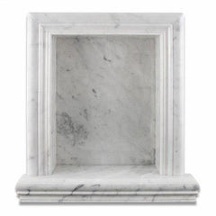 Carrara White Marble Hand-Made Shampoo Niche / Shelf - LARGE