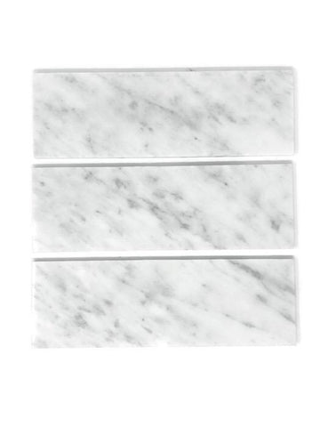 Carrara White 4x12 Subway Tile Polished/Honed Stone Tilezz