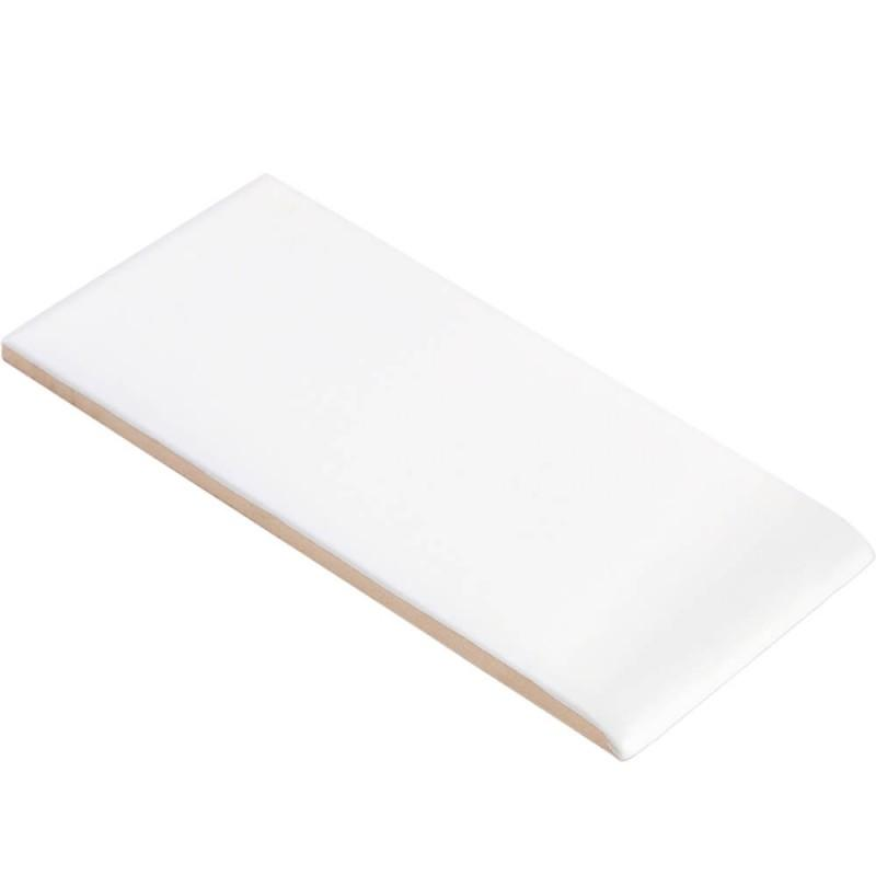 "Simple City Ice White Glossy 3"" Side Bullnose Tilezz"