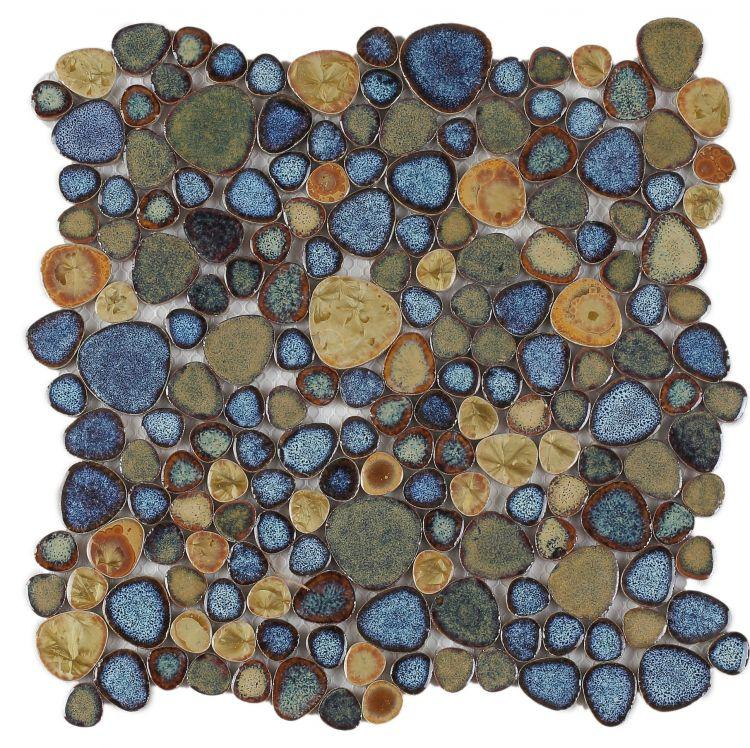 Growing Olive Porcelain Pebble Mosaic (Pool Rated) Tilezz