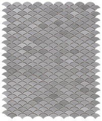 Dragon Scale Gray Porcelain Mosaic (Pool Rated)