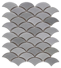 Dragon Scale Gray Porcelain Mosaic (Pool Rated) Tilezz