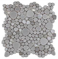 Growing Gray Porcelain Pebble Mosaic (Pool Rated) Tilezz