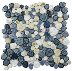 Growing Ocean Porcelain Pebble Mosaic (Pool Rated) Tilezz