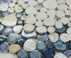 Growing Ocean Porcelain Pebble Mosaic (Pool Rated)