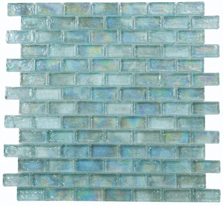 Malibu Turquoise Glass Brick Mosaic (Pool Rated) Tilezz