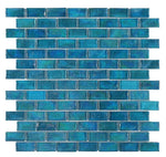 Load image into Gallery viewer, Malibu Blue Glass Brick Mosaic (Pool Rated) Tilezz