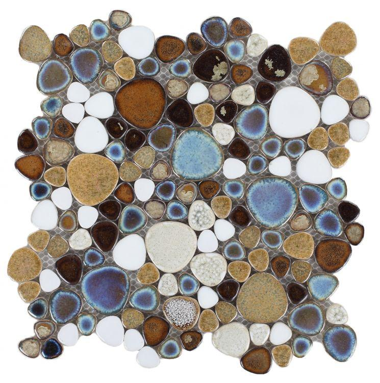 Growing Mango Porcelain Pebble Mosaic (Pool Rated) Tilezz