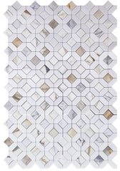 Calacatta Gold Eclipse Marble Mosaic Tile