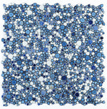 Load image into Gallery viewer, Growing Royal Blue Porcelain Pebble Mosaic (Pool Rated) Tilezz