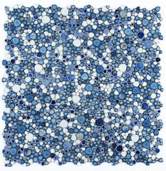 Growing Royal Blue Porcelain Pebble Mosaic (Pool Rated)