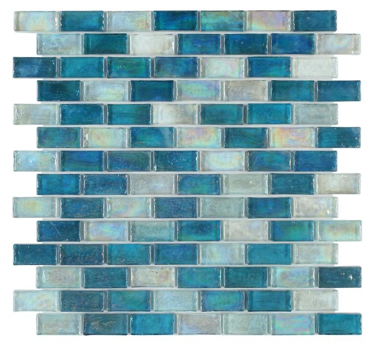 Malibu Ocean Glass Brick Mosaic (Pool Rated) Tilezz