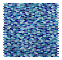 Malibu Sky Glass Brick Mosaic (Pool Rated)