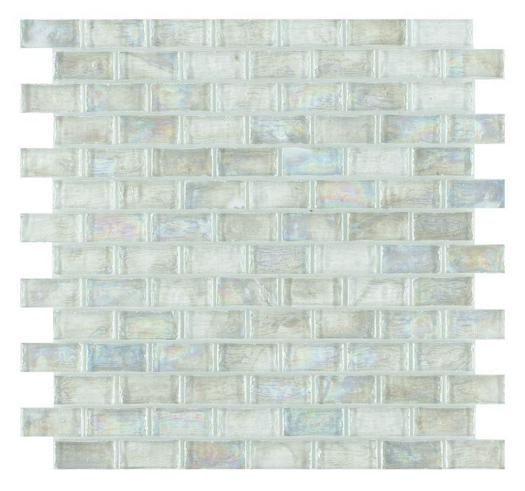 Malibu Clear Glass Brick Mosaic (Pool Rated) Tilezz