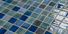 Vanguard Forest Blue Glass Pool Tile 12.25 x 18.25