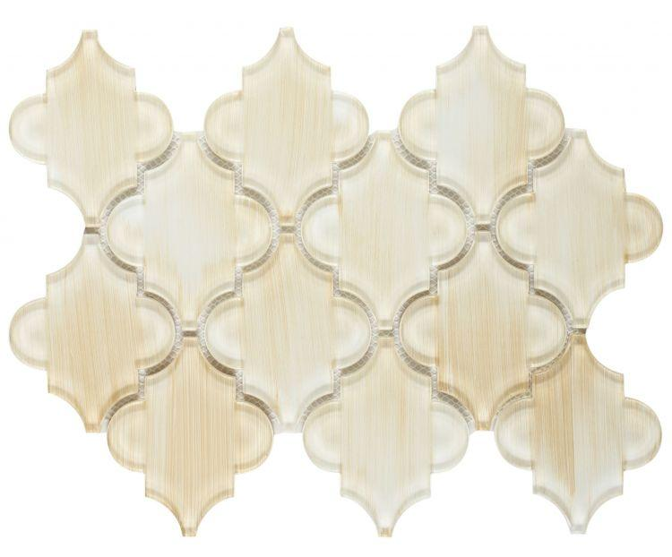 Kendra Painting Arabesque Glass Tile (Pool Rated) Tilezz