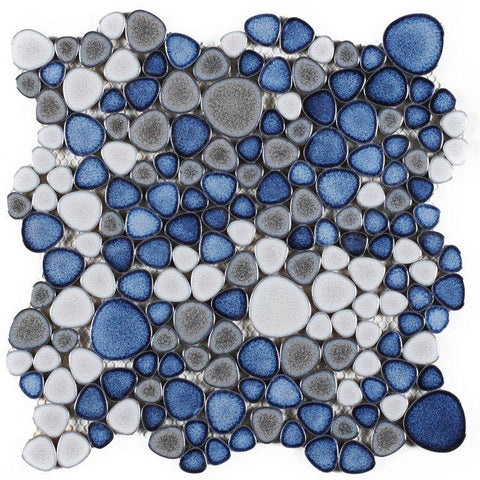 Growing Sky Porcelain Pebble Mosaic (Pool Rated) Tilezz