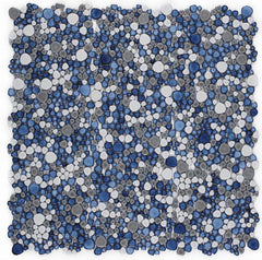 Growing Sky Porcelain Pebble Mosaic (Pool Rated)