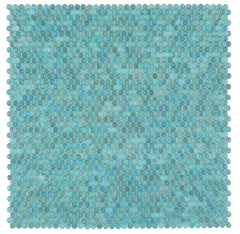 Malibu Turquoise Glass Penny Round Mosaic (Pool Rated)