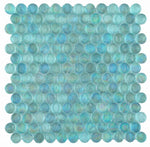 Load image into Gallery viewer, Malibu Turquoise Glass Penny Round Mosaic (Pool Rated) Tilezz