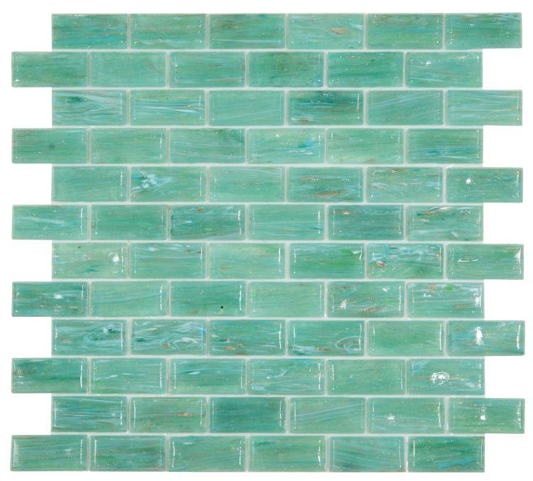 Hot Green Glass Brick Mosaic (Pool Rated) Tilezz