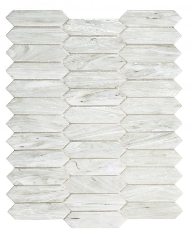 Arrow Dawn Picket Glass Mosaic ( Pool Rated ) Tilezz