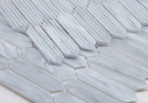 Arrow Grey Picket Glass Mosaic ( Pool Rated ) Tilezz
