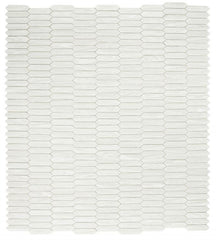 Arrow White Picket Glass Mosaic ( Pool Rated )