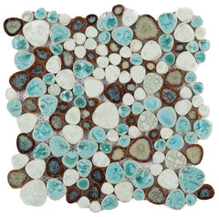 Growing Grass Porcelain Pebble Mosaic (Pool Rated) Tilezz
