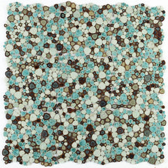 Growing Grass Porcelain Pebble Mosaic (Pool Rated)