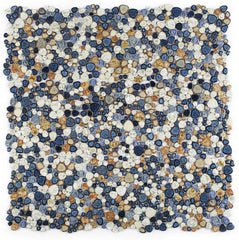 Growing Blue Porcelain Pebble Mosaic (Pool Rated)