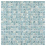 Load image into Gallery viewer, Icy Ocean Blue Cube Crackled Glass Mosaic Tilezz