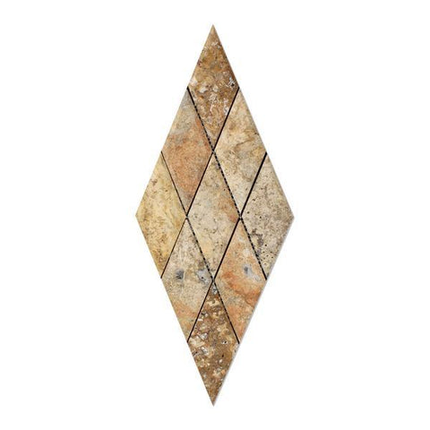 Scabos Travertine 3x6 Diamond Beveled Honed Mosaic Tile Stone Tilezz