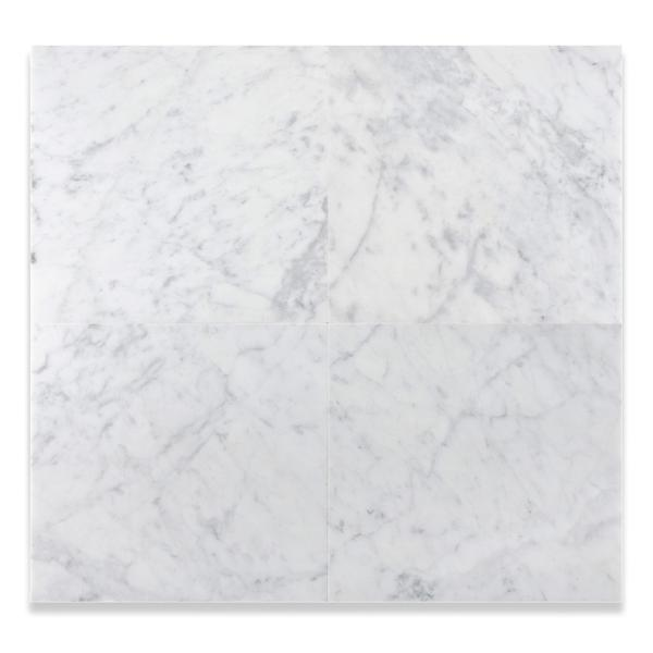 Carrara White 18x18 Marble Field Tile Polished/Honed Stone Tilezz
