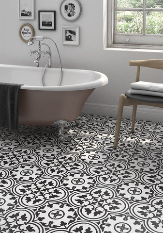 Encaustic Look Casablanca Heritage 8x8 Porcelain Tile