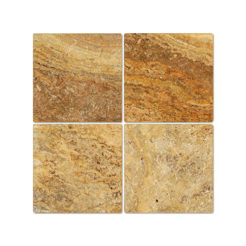 Scabos Travertine 12x12 Tumbled Field Tile Stone Tilezz