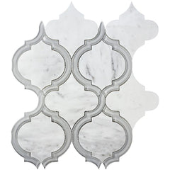 Cordoba Carrara Marble & Grey Glass