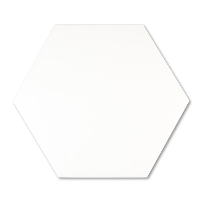 Madrid White 9x10 Hexagon Matte Porcelain Tile Tilezz