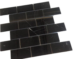 Nero Marquina 3x6 Subway Tile Polished