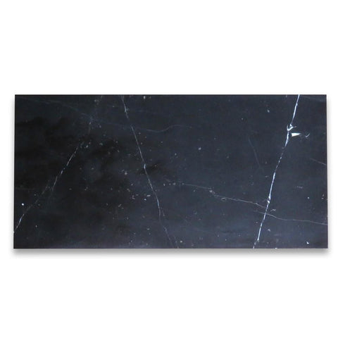 Nero Marquina 3x6 Subway Tile Polished Stone Tilezz