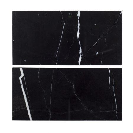 Nero Marquina 6x12 Subway Tile Polished Stone Tilezz