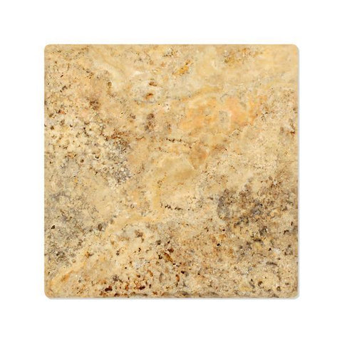 6X6 Scabos Travertine Tumbled Field Tile