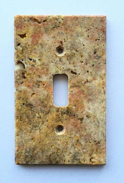 Scabos Travertine Single Toggle Switch Plate Tilezz