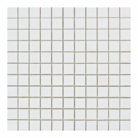 Thassos White 1x1 Marble Mosaic Polished/Honed Stone Tilezz