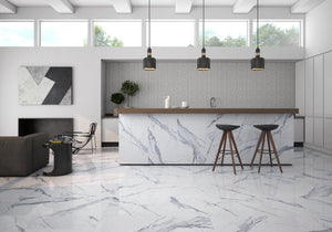 ROCA Tile Bianco Venatino 36x36 Polished Porcelain Tile Tilezz